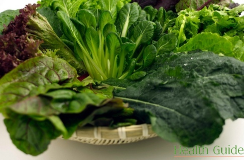Foods for your healthy heart: green leafy vegetables and olive oil!